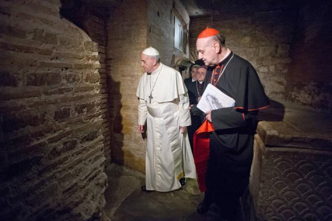 Primo Pontefice a scendere negli scavi della Necropoli vaticana