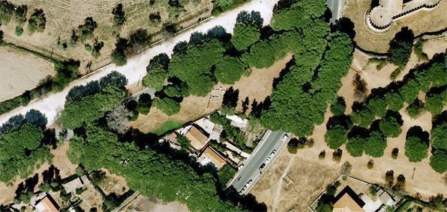 Visione aerea dell'area del ritrovamento archeologico (foto Ansa)