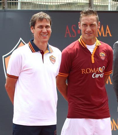 Rudi García y Totti - Roma 2013