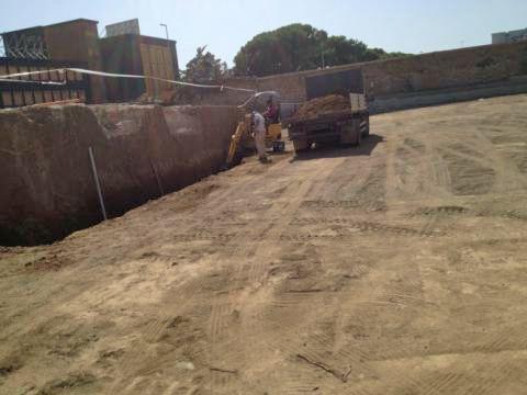 Scoperte sei tombe imperiali in un cantiere per la costruzione di un autosalone sulla Prenestina (Foto Mario Proto)
