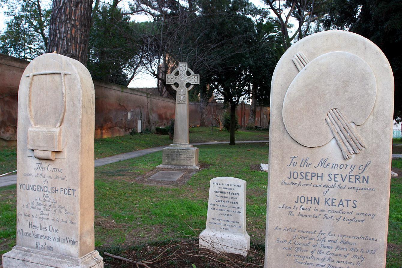 La tomba di Keats nel cimitero acattolico (Jpeg)