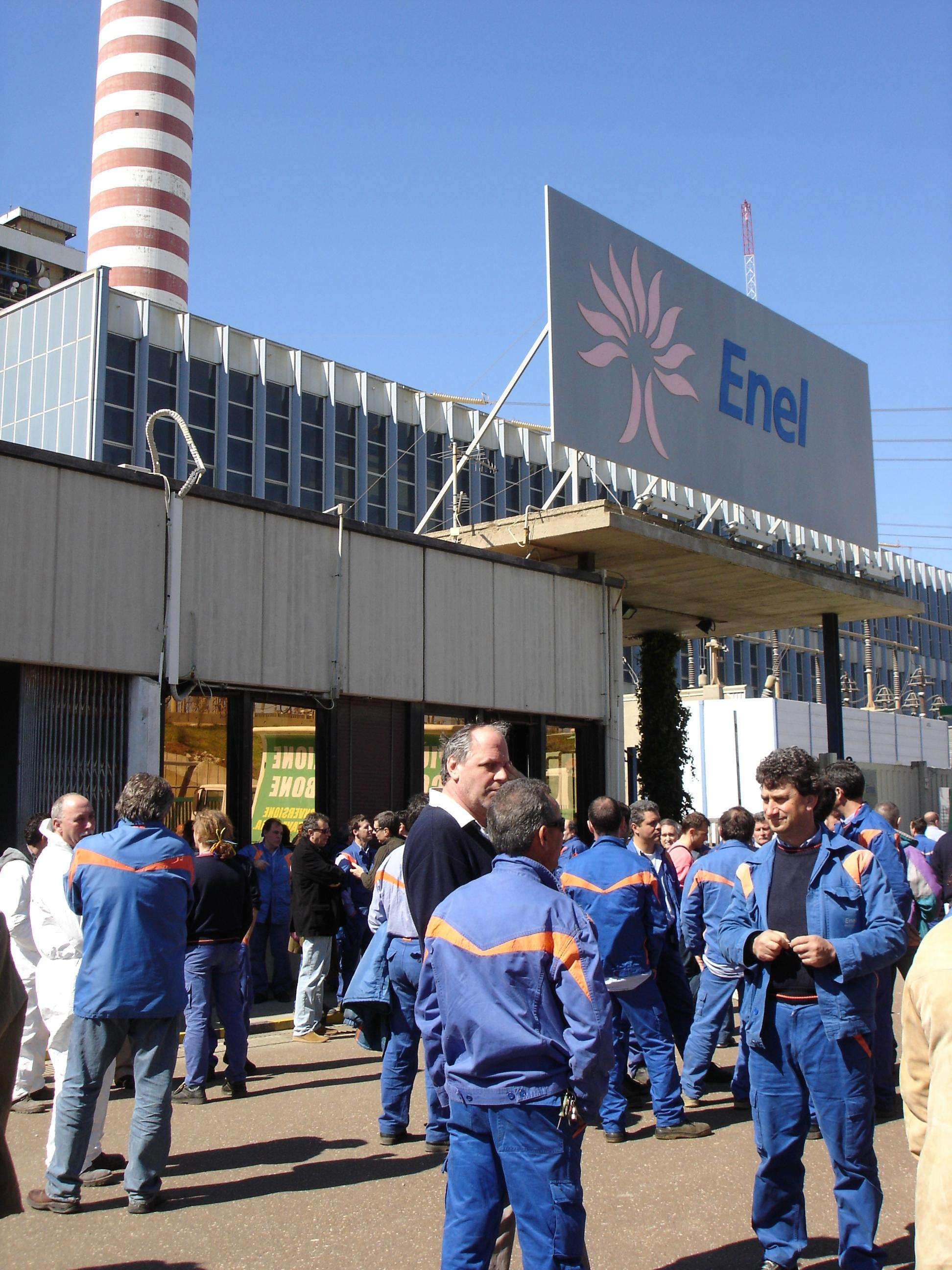 La centrale Enel di Torrevaldiga Nord