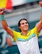 La gioia per la vittoria di Rafael Nadal (Ansa)