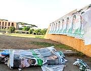 Manifesti strappati al Circo Massimo (Ipp)
