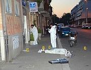 La scena del delitto (foto Faraglia)