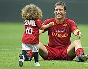 Francesco Totti e sua figlia Chanel (Eidon)
