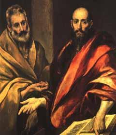 Il quadro di San Pietro e Paolo di El Greco