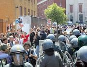 Studenti e polizia alla Sapienza (Eidon)