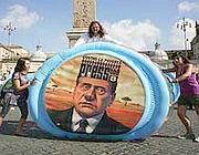 Protesta pacifica a piazza del Popolo (Photonews)