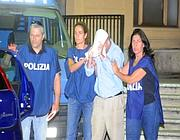 Il momento dell'arresto (foto Mario Proto)