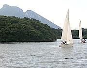Il lago di Paola: si naviga solo a vela (Ansa)