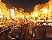 Carabinieri in Campo de Fiori a Roma (foto Jpeg)