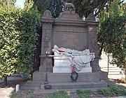 Il sepolcro del poeta al Verano: la salma è stata traslata al Gianicolo (Jpeg)