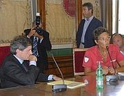 Alemanno incontra le associazioni. Con lui, Imma Battaglia (Omniroma)