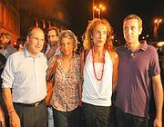 Da sinistra, Paolo Ferrero, Paola Concia, Vladimir Luxuria e Fabrizio Marrazzo (Ansa)