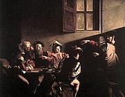 «La chiamata di San Matteo» di Caravaggio (1599-1600)