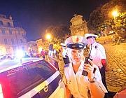 Controlli notturni dei vigili sul rispetto delle ordinanze anti alcol (Jpeg)