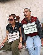 La protesta in Campidoglio per liberare gli arrestati