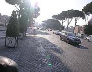 Via dei Fori Imperiali riaperta al traffico lunedì mattina (foto Zanini)