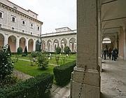 Chiostro all'interno dell'Abbazia di Montecassino (Jpeg)