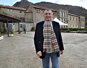 Marrazzo nel 2007 a Subiaco, davanti all'Abbazia  benedettina di Santa Scolastica (Ciofani)