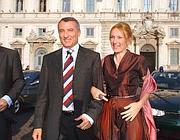Un'immagine d'archivio di Marrazzo con la moglie Roberta Serdoz