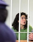 Diana Blefari nell'aula bunker di Rebibbia nel marzo 2005 (Ansa)
