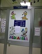Il reparto di pediatria del Villa San Pietro: vietate le visite causa influenza (Proto)