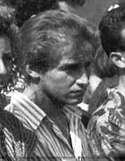 Raniero Busco il 9 agosto 1990, durante i funerali di Simonetta Cesaroni (Ansa)