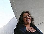 L'archistar Zaha Hadid alla presentazione del Maxxi (foto Jpeg)