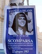 I cartelli che tappezzavano Roma cercando la Orlandi (Ansa)