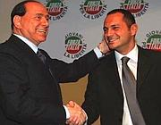 Siclari con il premier Berlusconi (da www.marcosiclari.it)