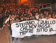 La fiaccolata per Stefano Onofri di lunedì sera a Castel Madama (Proto)