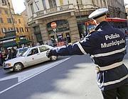 Blocchi stradali per la Capitale (foto Eidon)