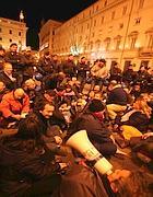 Il sit-in Eutelia davanti Palazzo Chigi (Jpeg))