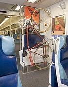 Una bici nella metropolitana di Los Angeles