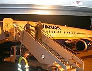 Passeggeri Ryanair sbarcano a Ciampino