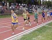 Podisti allo stadio Paolo Rosi all'Acqua Acetosa (Gmt)