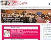 L'hompage del sito di Renata Polverini