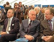 La cerimonia d'inaugurazione con Gianni Letta e altero Matteoli (Foto Ansa)