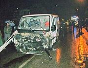 Il furgone guidato dal 17enne che ha travolto l'auto con la famiglia di tre persone (Proto)