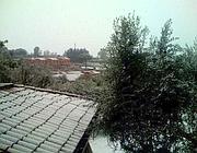 Neve sui tetti ai Castelli Romani (foto Voltattorni)