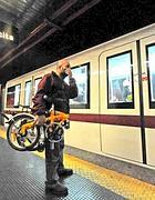 La bici pieghevole pieghevole nella metrò A (Proto)