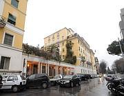La palazzina del delitto in via Poma (foto Proto)