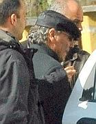 Danilo Speranza durante il suo arresto (Ansa)
