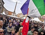 Il popolo viola a piazza Navona (Eidon)
