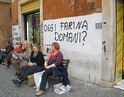 La battaglia della farina sui muri al Ghetto (Brogi)