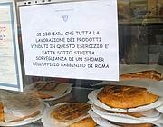 Cartelli su esercizi alimentari nel Ghetto (Brogi)