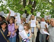 La protesta degli abitanti nel maggio 2009 (Jpeg)