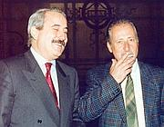 Giovanni Falcone e Paolo Borsellino (foto Ansa)